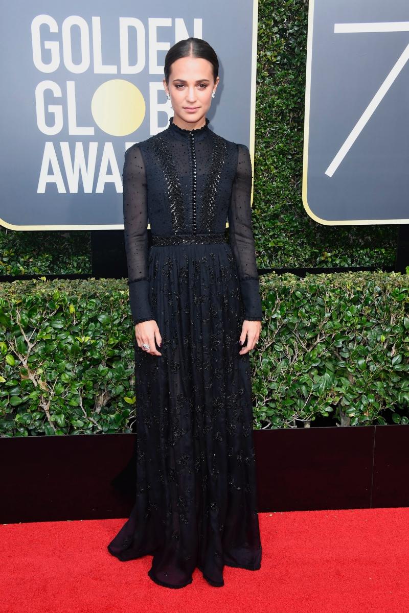 Nữ diễn viên Thụy Điển Alicia Vikander tiếp tục lựa chọn thiết kế từ Louis Vuitton cho sự kiện trọng đại này.