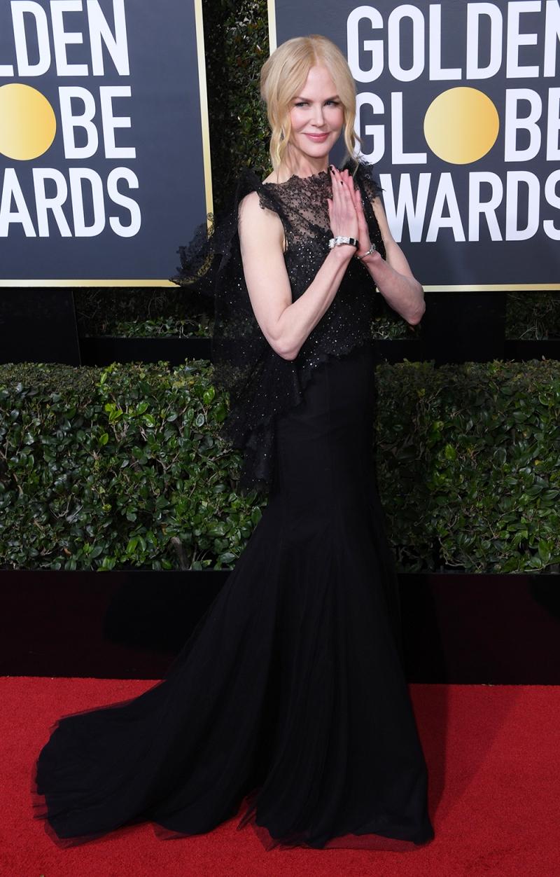Nicole Kidman chọn cho mình thiết kế đầm couture từ nhà mốt Givenchy.