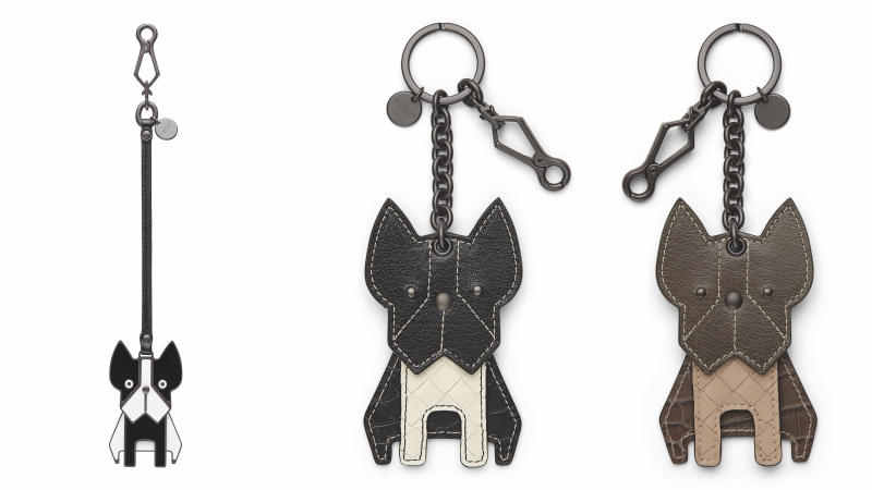 Móc chìa khóa hoặc phụ kiện cho túi xách với hình ảnh chú chó French bulldog vô cùng đáng yêu.
