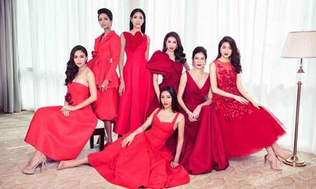 H'hen Niê thần thái nổi bật trong bức hình chụp các thế hệ Hoa hậu Hoàn vũ Việt Nam