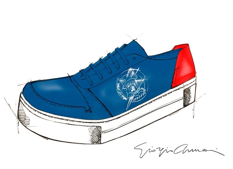Phiên bản giày sneakers cho dịp Tết Mậu Tuất của Emporio Armani.