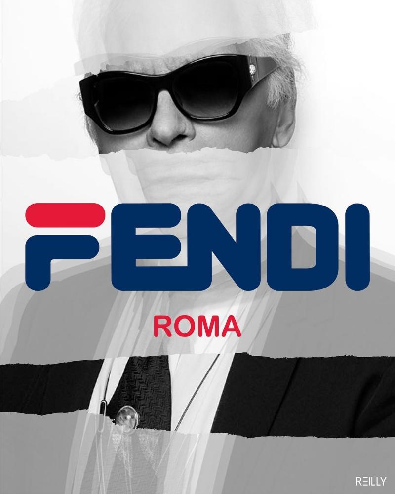 Logo Fendi được thiết kế theo logo của Fila bởi nghệ sĩ Hey Reilly.