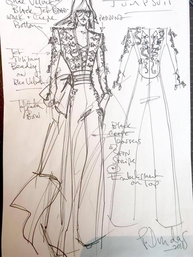 Bản vẽ phác thảo thiết kế của Peter Dundas cho Ng.a.