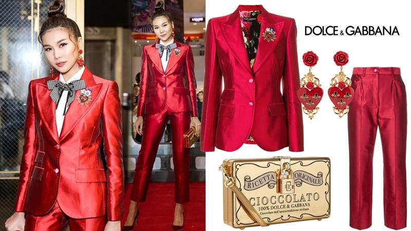 """Thanh Hằng """"khuynh đảo"""" thảm đỏ trong trang phục rực rỡ của Dolce & Gabbana"""