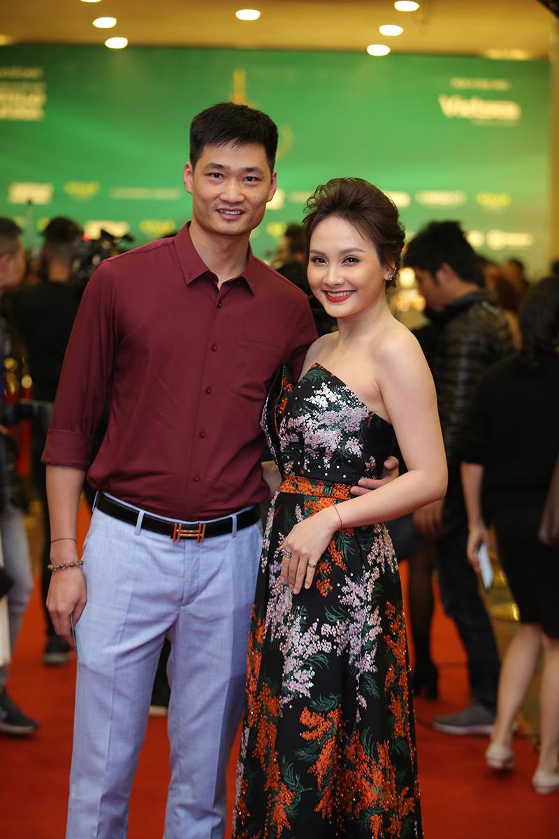 Hai vợ chồng diễn viên Bảo Thanh.
