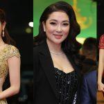 Hoa hậu Nguyễn Thị Huyền bất ngờ xuất hiện trên thảm đỏ giải Cống hiến
