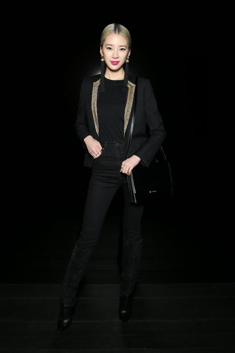 Fashionista đình đám người Hàn Irene Kim cũng được mời dự show lần này của Saint Laurent.