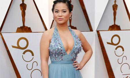 Nữ diễn viên gốc Việt rạng rỡ trên thảm đỏ Oscar 2018