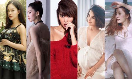 """Những """"bà bầu"""" của showbiz Việt – ai nóng bỏng hơn?"""