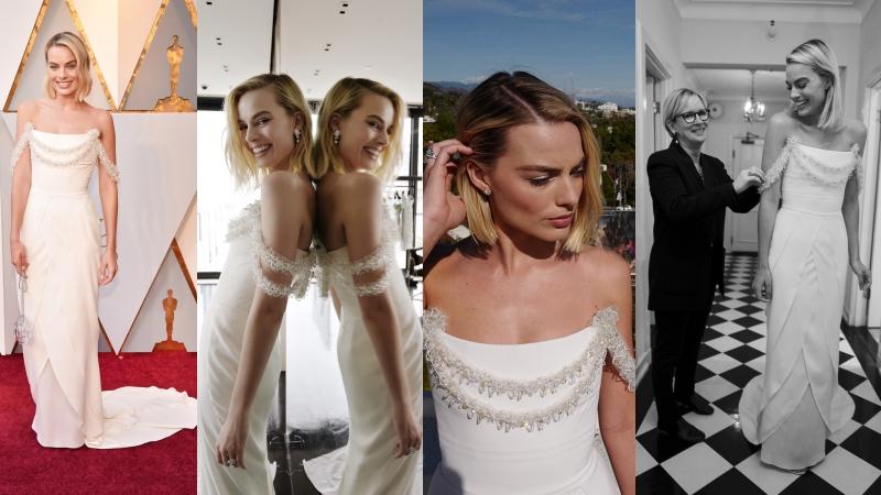 Những điều chưa biết về chiếc đầm đẹp như mơ của mỹ nhân Margot Robbie tại Oscar 2018