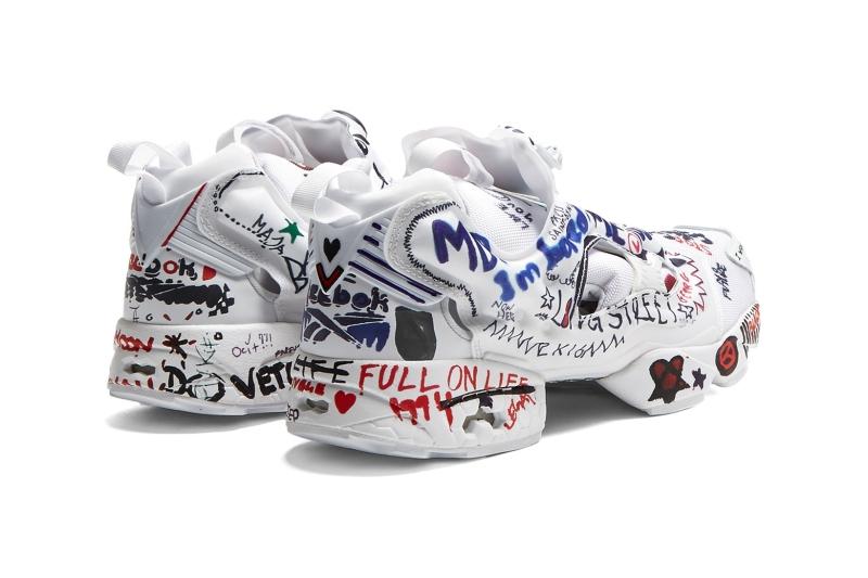 Dáng vẻ giày vẫn nguyên xi bản gốc nhưng được Vetements mang đến những hình vẽ đầy ngẫu hứng, mang cảm hứng đường phố đương đại.