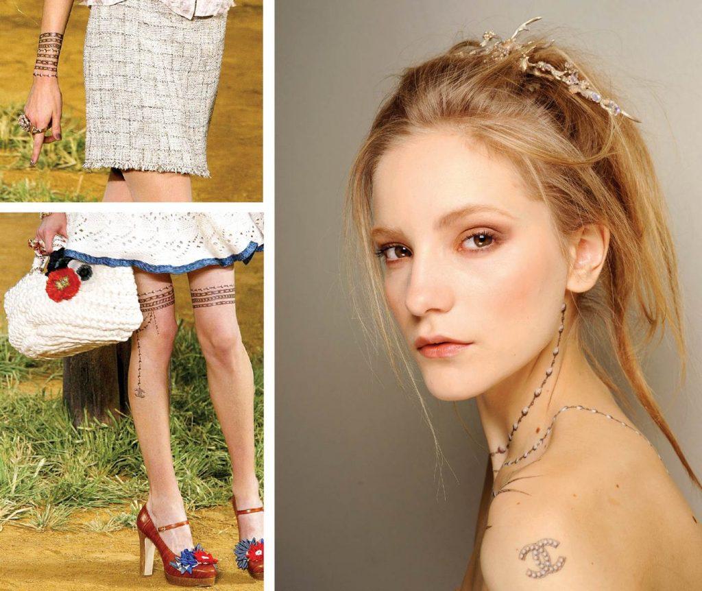 Những hình xăm giả xinh xắn trong show diễn Chanel Ready-to-wear năm 2010