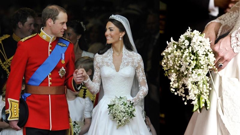 Đằng sau bó hoa cưới của các cô dâu Hoàng gia Anh