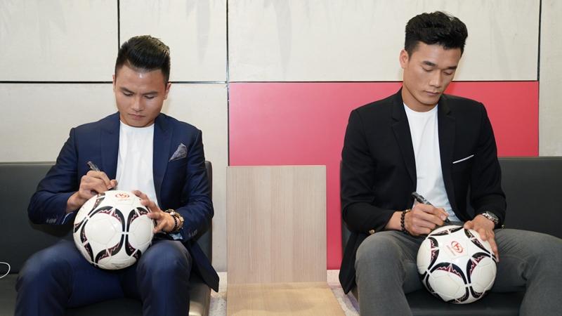 Nguyễn Quang Hải và Bùi Tiến Dũng trở thành đại sứ thương hiệu