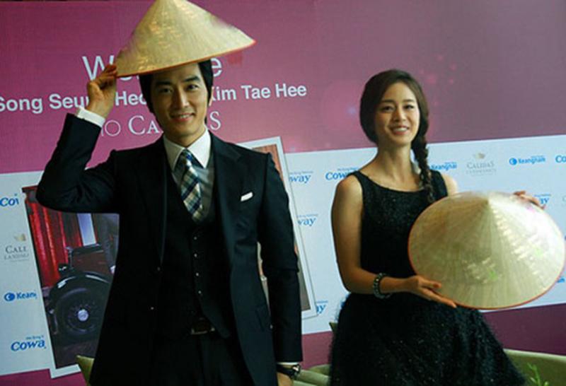 Năm 2012, Kim Tae Hee và bạn diễn Song Seung Hun từng đến Việt Nam tuyên truyền phim mới.
