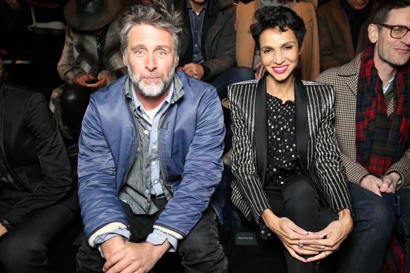 Nhiếp ảnh gia người Anh David Sims và nữ diễn viên Farida Khelfa