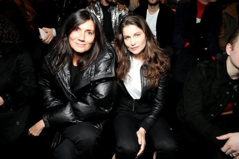 Tổng biên tập Vogue Paris Emmanuelle Alt và nữ diễn viên Laetitia Casta