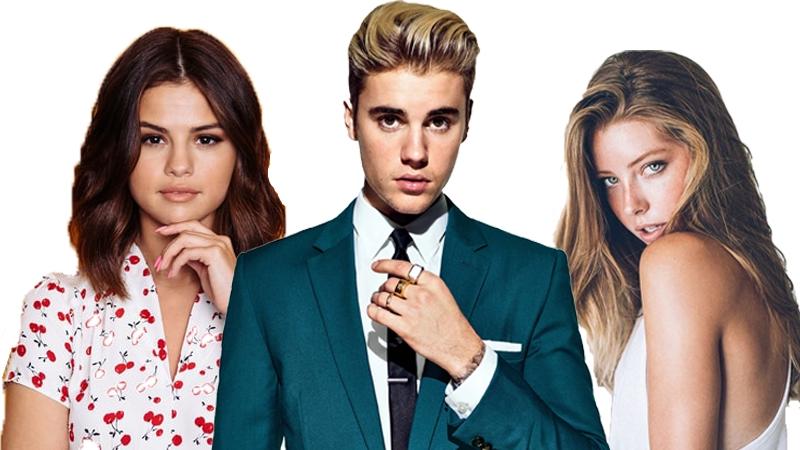 Vừa chia tay Selena, Justin đã tình tứ với người mới