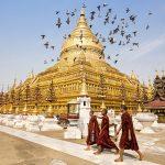 Shwezigon: Ngôi chùa dát vàng đầu tiên và linh thiêng nhất ở Myanmar