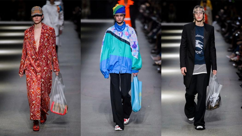 Burberry với BST Tháng Hai vừa qua cũng giới thiệu hàng loạt các thiết kế túi nhựa.