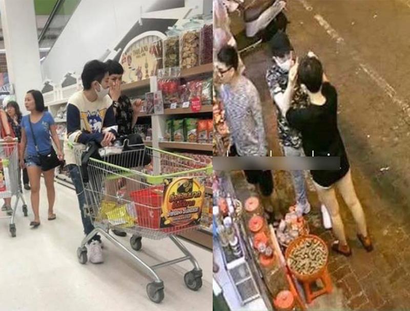 """Hình ảnh thân thiết của """"song Lê"""" trong chuyến du lịch Thái Lan cùng nhóm bạn thân khiến cư dân mạng nghi ngờ cả hai đang hẹn hò."""