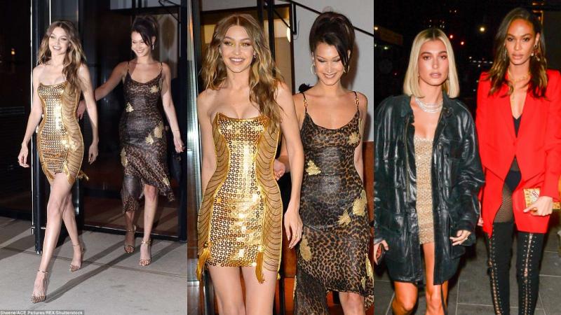 """Gigi Hadid rạng ngời cùng """"chị em bạn dì"""" trong buổi tiệc sinh nhật lần thứ 23"""