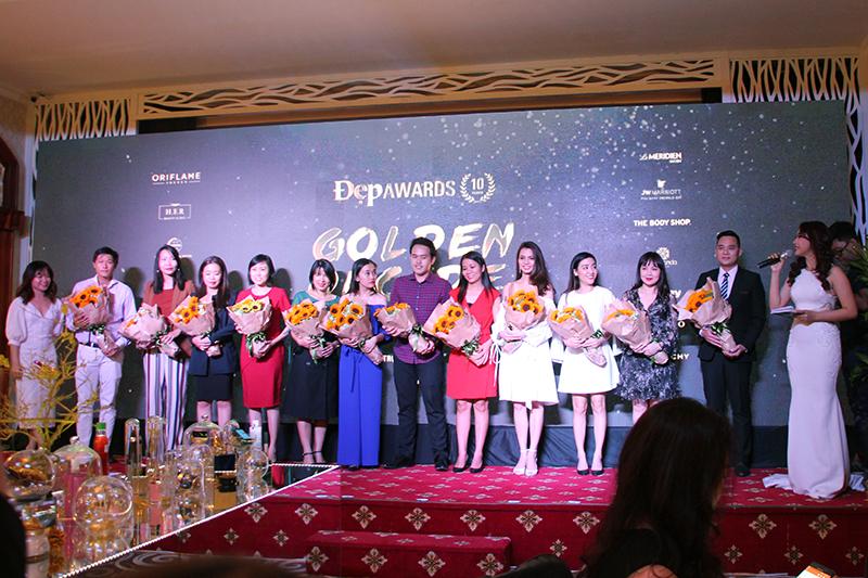 Đại diện các nhãn hàng tham dự Lễ trao giải Đẹp Awards.