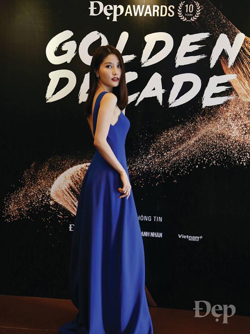 Nữ diễn viên Diễm My 9x xuất hiện xinh đẹp lộng lẫy, cô cũng chính là biểu tượng truyền cảm hứng trong lĩnh vực điện ảnh năm 2017 (Woman in film) với tác phẩm đình đám Cô Ba Sài Gòn.