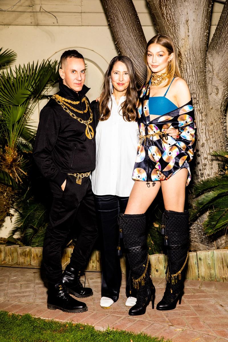 (Từ trái qua) NTK Jeremy Scott - Giám đốc Sáng tạo Moschoni, bà Ann-Sofie Johansson - Cố vấn Nghệ thuật của H&M và Gigi Hadi.