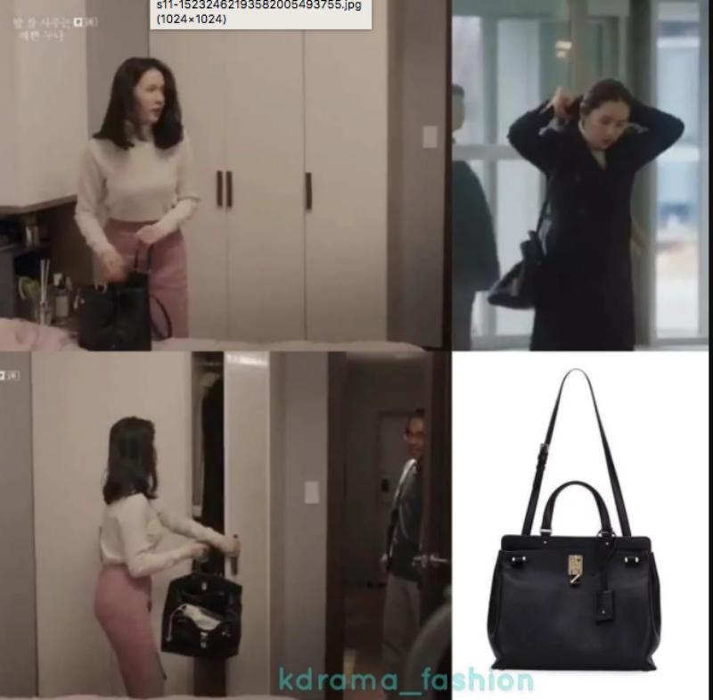 """Phụ nữ ngoài 30 làm công việc văn phòng luôn thích lựa chọn túi xách màu đen có quai xách và quai đeo linh hoạt. """"Chị đẹp"""" sở hữu túi xách Joylock của Valentino có giá khoảng 2.295 đô la."""