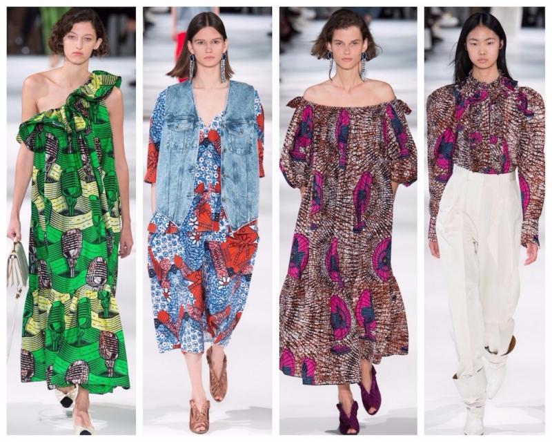 Các thiết kế được làm bằng chất liệu cotton hữu cơ của Stella McCartney trong BST Xuân Hè 2018.