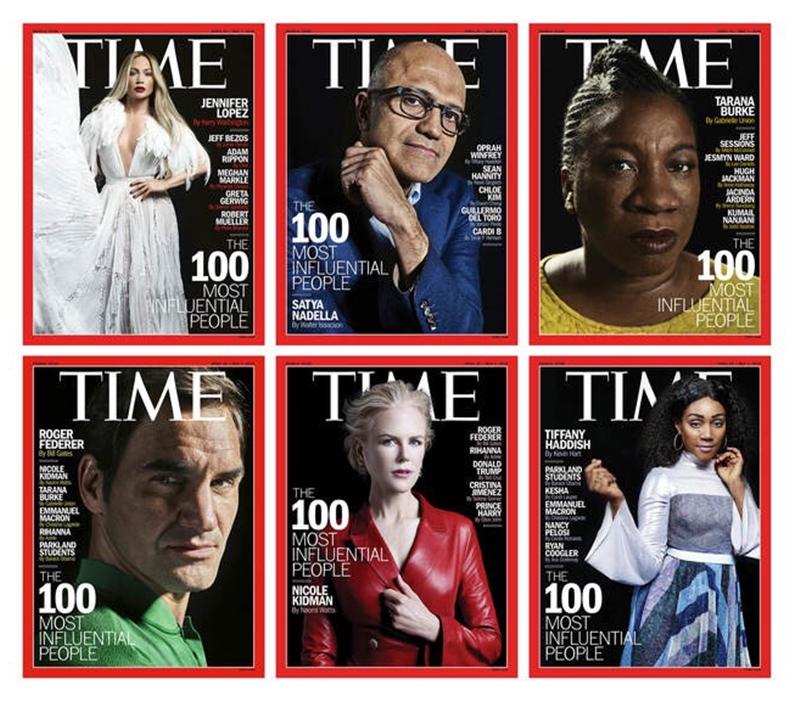 Các nhân vật trên trang bìa trong số ra đặc biệt của Time