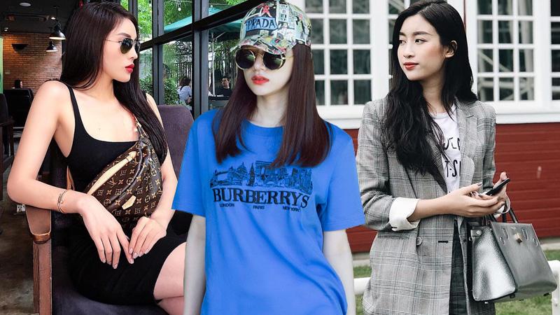 Bộ ba Hoa hậu Kỳ Duyên, Mỹ Linh và Hương Giang đọ street style ngập tràn hàng hiệu