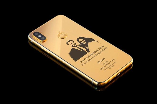 Xuất hiện iPhone X phiên bản đám cưới hoàng gia Anh mạ vàng 24k