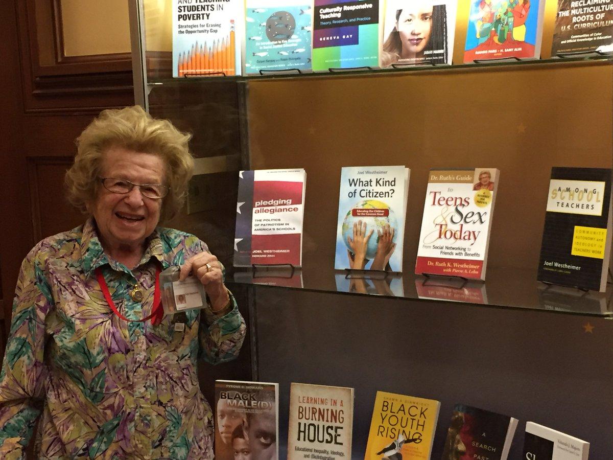 Ruth Westheimer đã phát hành khoảng 40 tựa sách về vấn đề tình yêu/tình dục và các mối quan hệ khác nhau.
