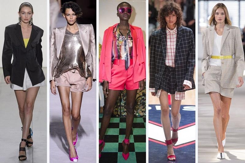 Quần shorts phối cùng áo blazer mang phong cách retro cực kỳ cá tính.