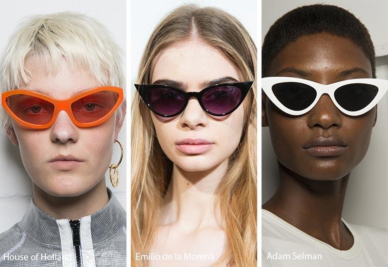 Các thiết kế kính ấn tượng từ những thương hiệu House of Holland, Emilio de la Morena, Adam Selman.
