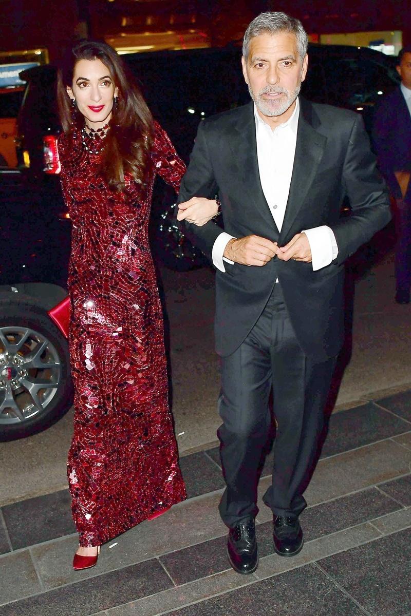 Tài tử George Clooney và vợ Amal Clooney