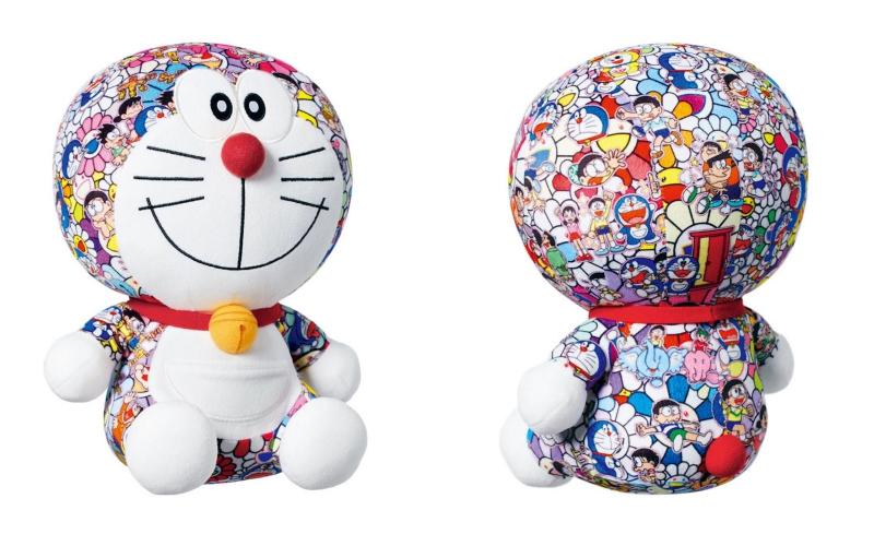"""Món đồ chơi hình Doraemon với họa tiết trong tác phẩm nghệ thuật """"Anna koto iina dekitara iina"""" của nghệ sĩ Takashi Murakami sẽ được bán với giá 29.90 đôla (khoảng 690.000 đồng)."""