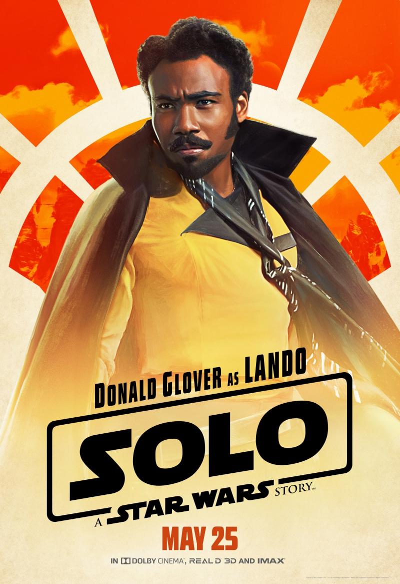 """Tạo hình nhân vật Lando của Donald Glover trong phim """"Solo: Star Wars ngoại truyện""""."""