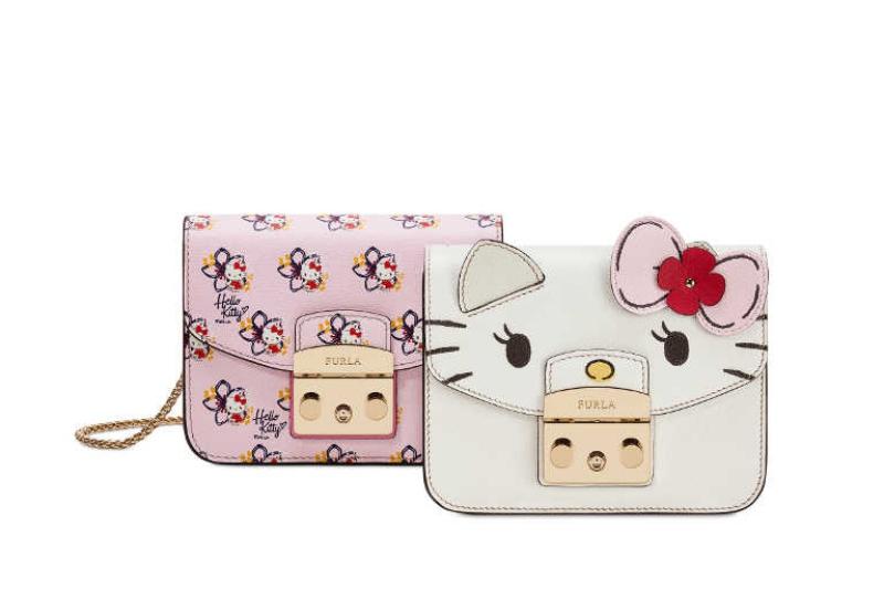 Hình ảnh cô mèo Hello Kitty đỏm dáng mang đến cảm hứng mới mẻ cho chiếc túi xách Metropolis vốn rất ăn khách.