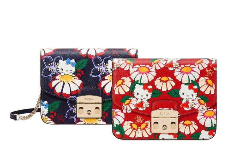 Những thiết kế túi xách Metropolis của Furla nổi bật với họa tiết Hello Kitty.
