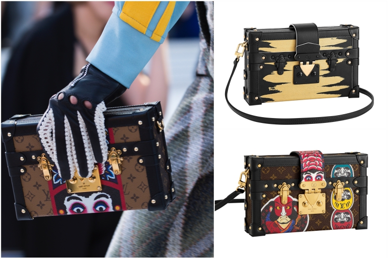 Thiết kế túi xách Petite Malle mang cảm hứng từ chính những chiếc rương trứ danh của Louis Vuitton.