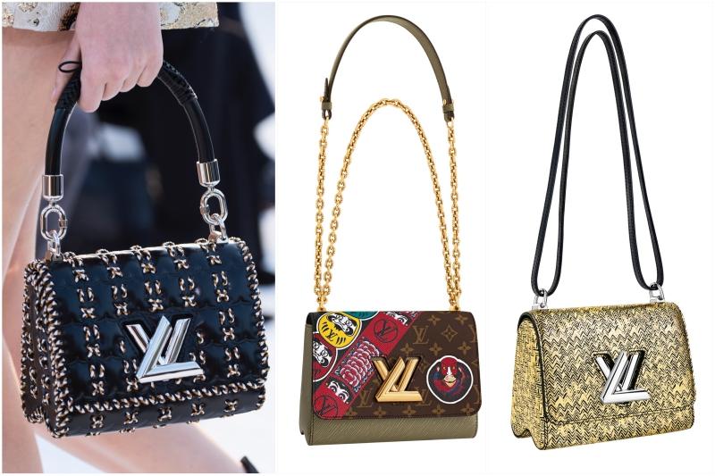 Túi xách Twist với phần khóa được biến tấu từ logo LV cũng là một trong những biểu tượng mới của Louis Vuitton từ khi NTK Nicolas Ghesquière đảm nhiệm vai trò giám dốc nghệ thuật.