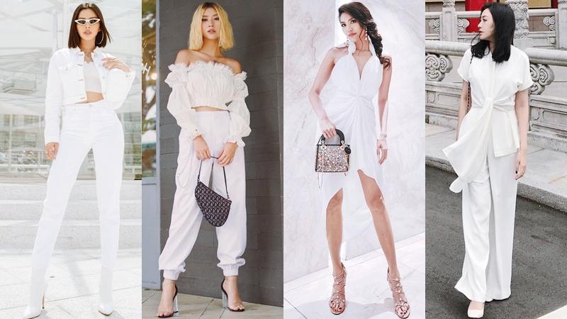 """White-on-white: Từ khóa """"hot"""" nhất tuần chinh phục quý cô thời trang Việt và fashionista thế giới"""