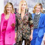 """Cate Blanchett – """"Bà hoàng"""" của những bộ suit thời thượng"""