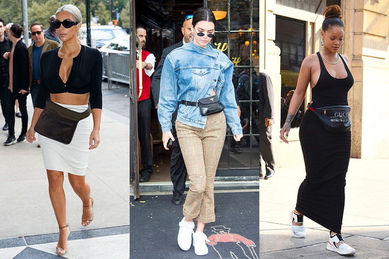 Những celeb đình đám nhất từ Rihanna, Kendall Jenner, Kylie Jenner đến Bella Hadid đều không thể cưỡng lại cơn sốt belt bag.
