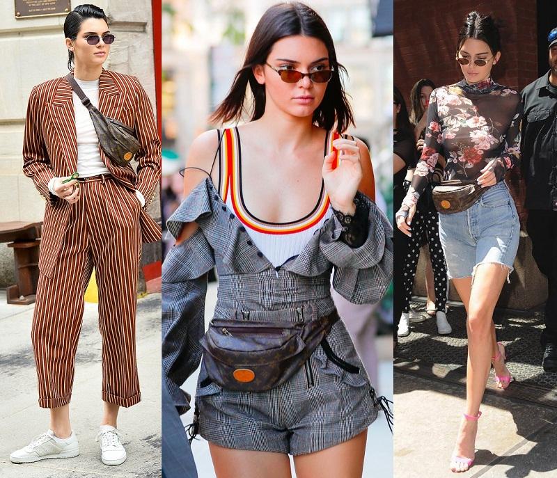 Đây cũng là một trong những chiếc túi đeo ngang hông được Kendall Jenner ưu ái nhất.