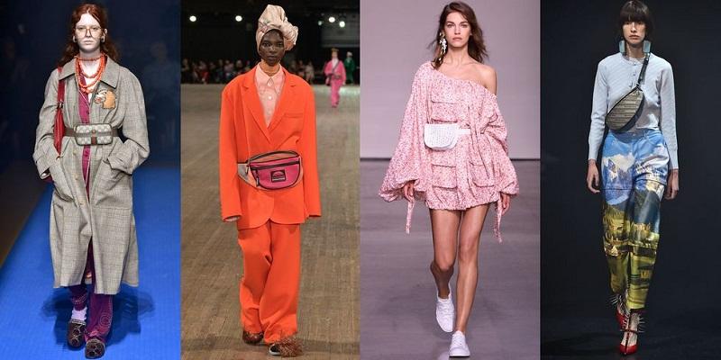 Các mẫu belt bag thống trị đường băng mùa thời trang xuân hè 2018 với kiểu dáng vô cùng đa dạng.