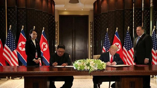 Hé lộ bốn điểm cốt lõi trong bản Tuyên bố chung Mỹ-Triều